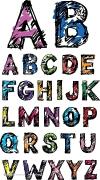 花卉图案字母设计