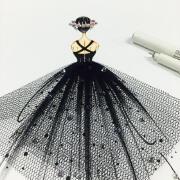 创意服装设计画手稿