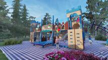 儿童游乐设施、场景模型渲染动画制作