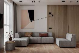 富有生活气息的现代住宅设计:盐系+原木