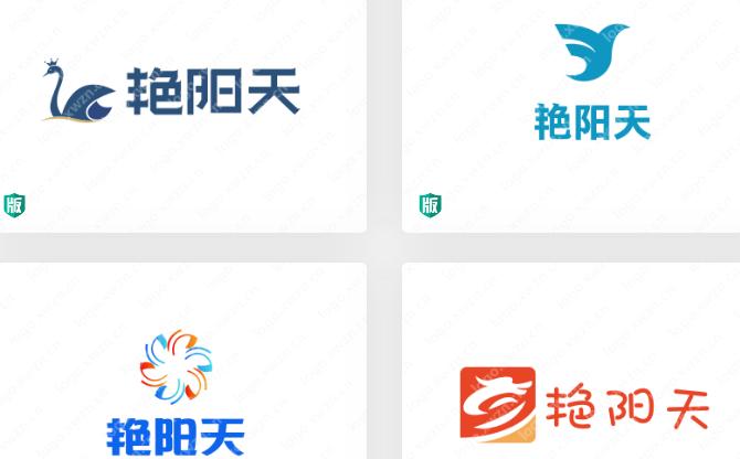 寓意发展兴盛、生意红火的【艳阳天】logo,你觉得适合哪个行业合适呢