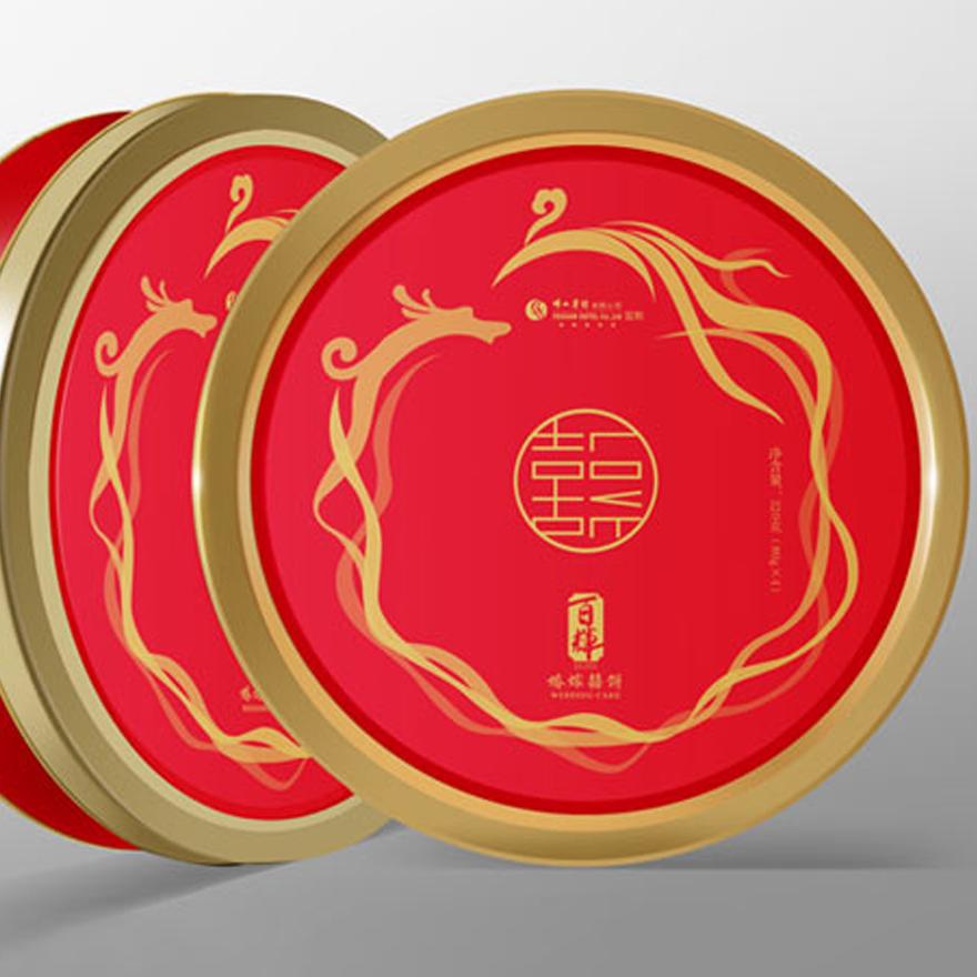 百辉喜饼包装设计
